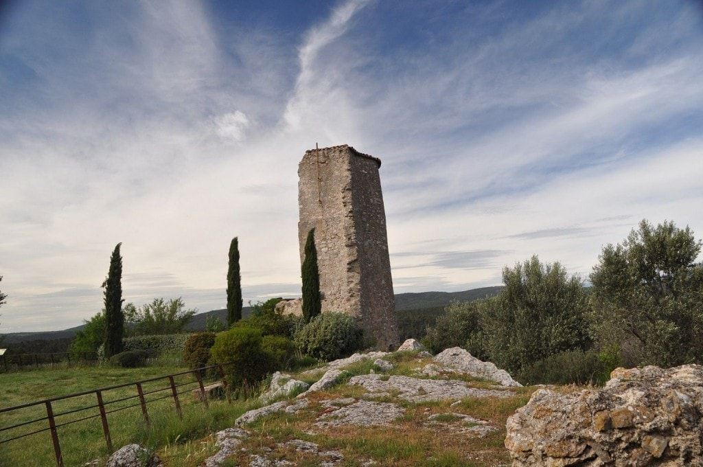 The old Ponteves Castle in the middle of The Green Provence